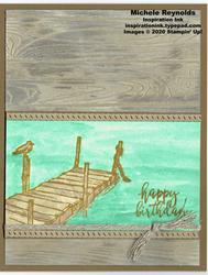 By the dock birthday dock watermark