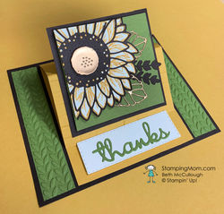 Celebrate sunflowers thank you fun fold