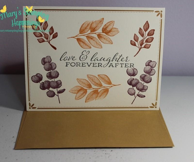 Forever fern gold cards   envelopes