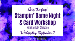 Stampin  game night cover photo sept