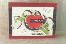 Welcome back  harvest hello stamp set for a great new school year