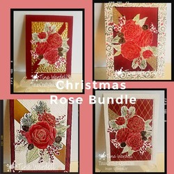 Christmas rose bundle collage