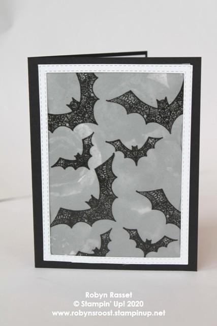 Hallows night magic embossed bats black tall