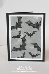 Hallows night magic embossed bats black tall