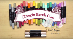 Stampin blends club logo met achtergrond