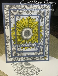 Stampin up misty moonlight celebrate sunflowers carolpaynestamps1