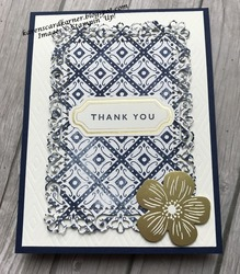 Boho indigo thank you