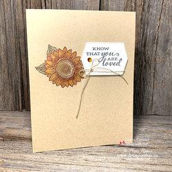 Stampin blends encouragement card