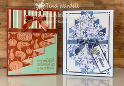 Curtain fold cards