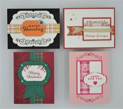 Plaid tidings   all 4 cards