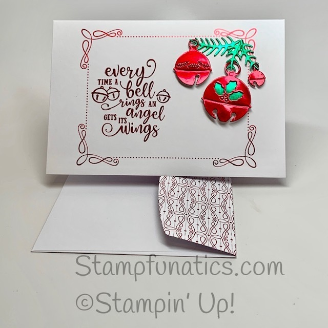 Christmas bell card with christmas means more