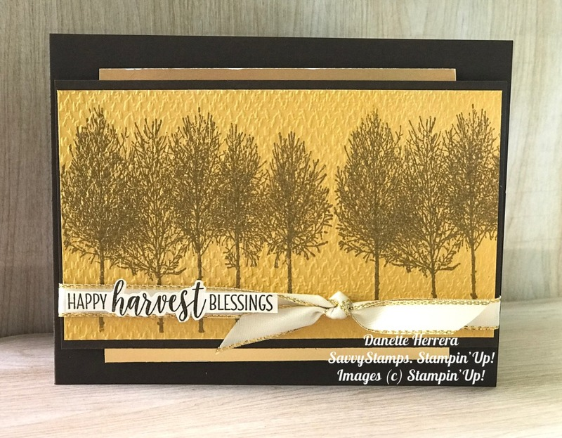 Happy harvest blessings  country home and winter woods stamp sets