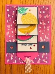 Cute fruit waterfall card