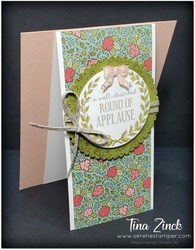 Round of applause stampin up tina zinck front flap fold