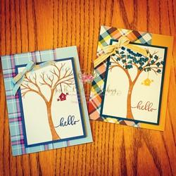 Life is beautiful plaid tidings fall   winter cards