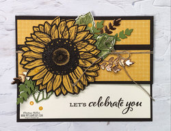 Celebrate sunflowers fun fold