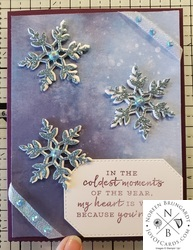 Snowflake wishes christmas card  1