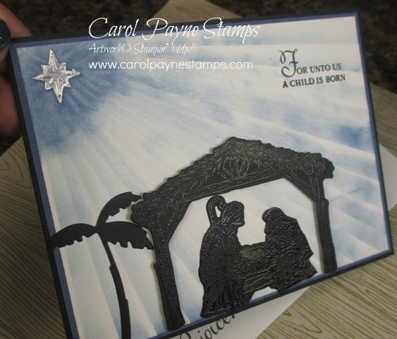 Stampin up starlight peaceful nativity carolpaynestamps6