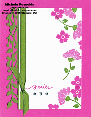 Lovely you magenta smile flowers watermark