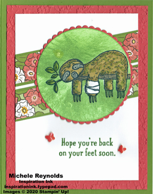 Back on your feet jungle sloth watermark