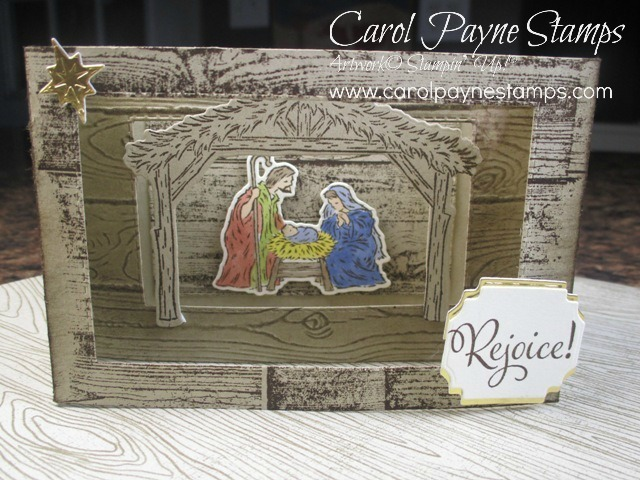 Stampin up diorama nativity carolpaynestamps1