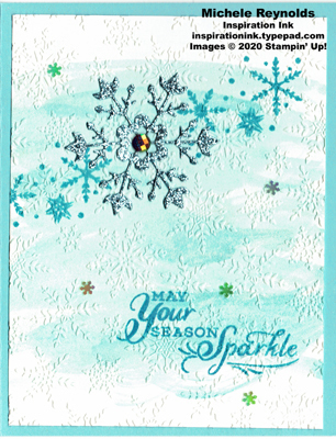 Snowflake wishes sparkly snow swirl watermark