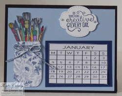 Desk calendar blue
