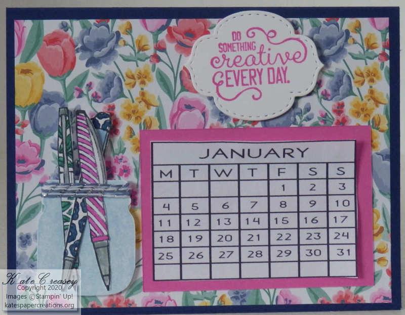 Desk calendar pink