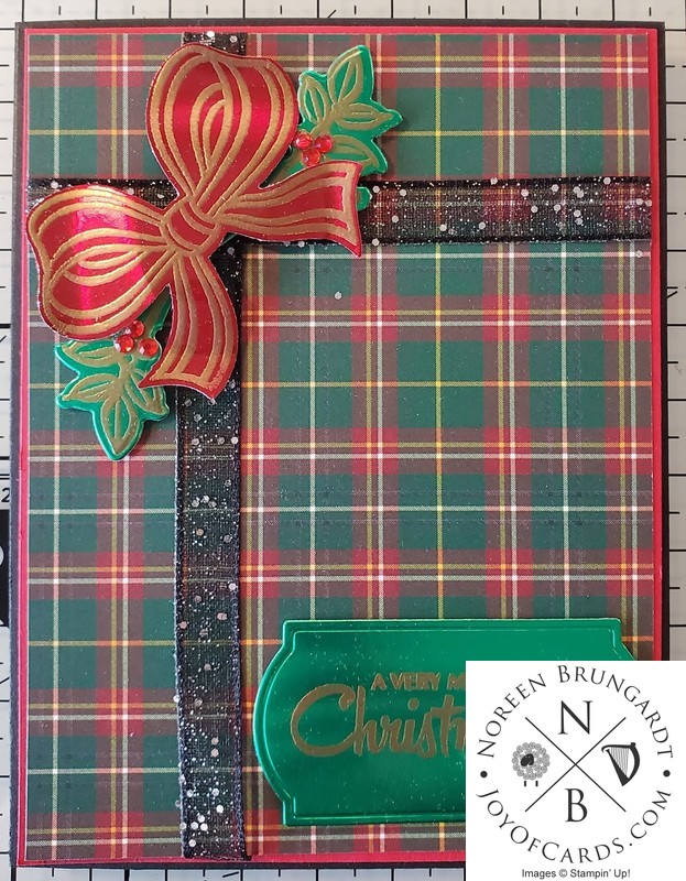 Gift wrapped christmas card  2