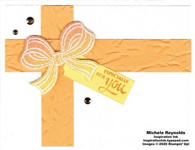 Gift wrapped ombre bow present watermark