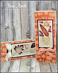 Love of leaves stampin up slim line card tina zinck