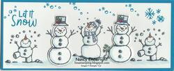 Snowman season slimline