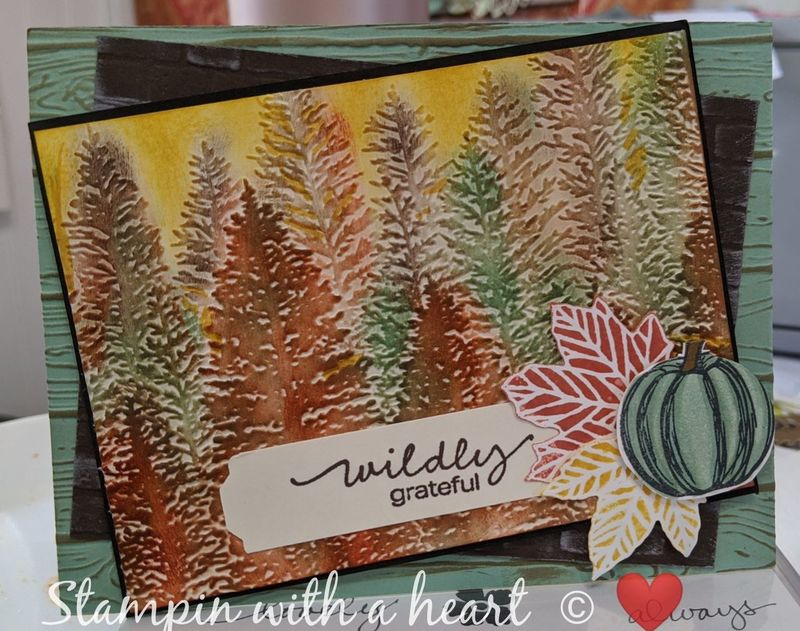 Gather together with 3d embossing folders