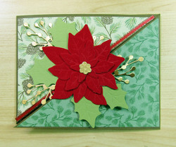 Poinsettia card 03   front view