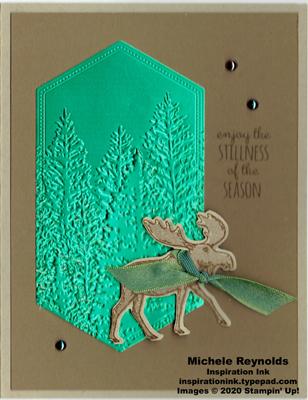 Merry moose framed trees watermark