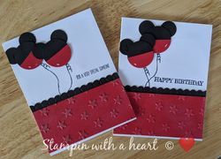 Micky mouse balloon cards