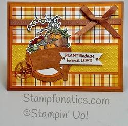 Autumn goodness plant kindness card