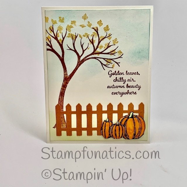 Autumn goodness golden leaves card