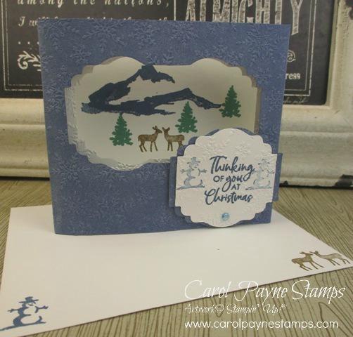 Stampin up snowfront diorama carolpaynestamps1