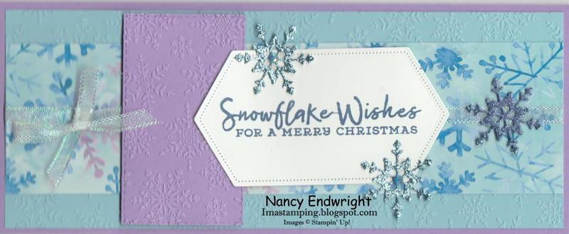 Snowflake wishes   slimline