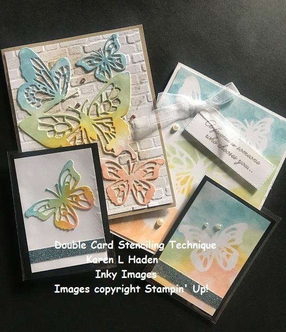 Double card stenciling technique