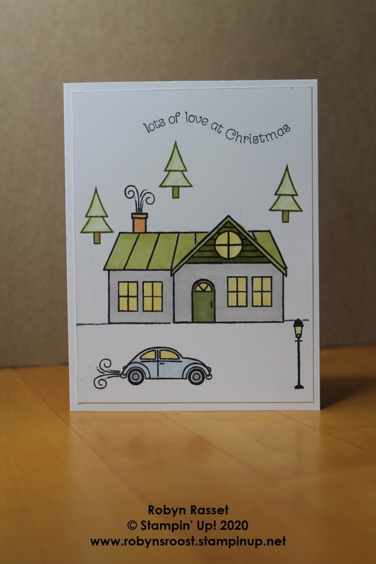 Trimming the town world cardmaking simple tall