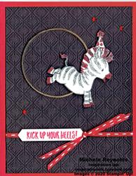 Zany zebras acrobatic zebra watermark