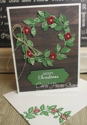 Stampin up arrange a wreath carolpaynestamps1