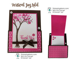 Vertical joy fold card