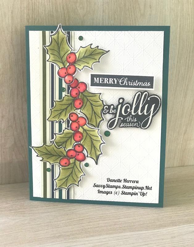 Be jolly this season   christmas gleaming stamp set