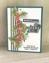 Be jolly this season   christmas gleaming stamp set