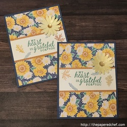 Beautiful autumn daisy card papered chef