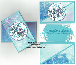 Snowflake wishes triangle folds watermark
