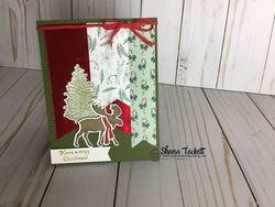 Christmas moose banner
